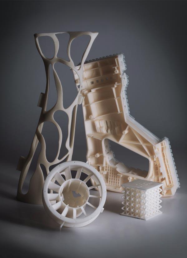 Composizione di oggetti stampati in 3D