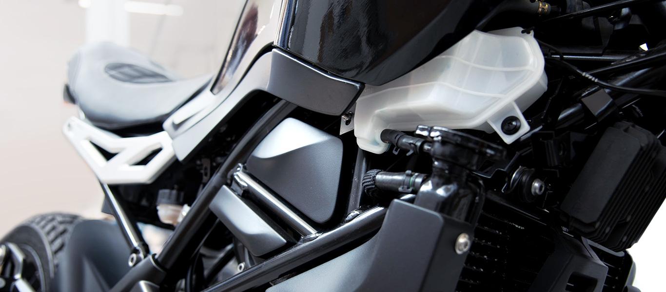 Carena di una motocicletta con parti stampate in 3D
